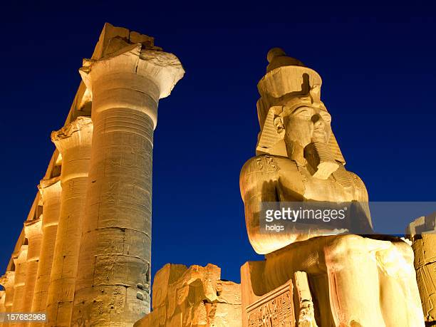 temple of luxor, egypt - rameses ii stock photos and pictures