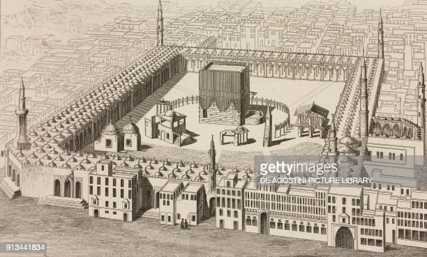 Temple of Mecca Saudi Arabia engraving from Arabie by Noel Desvergers avec une carte de l'Arabie et note by Jomard L'Univers pittoresque published by...