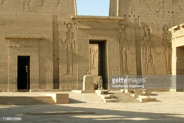 temple of philae, aswan - argenberg stock pictures, royalty-free photos & images