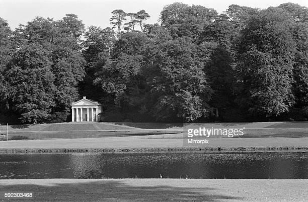 Temple of Piety and water gardens at Studley Royal Park Ripon North Yorkshire September 1971