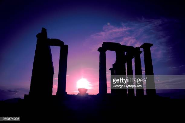 temple of poseidon - ancient greece photos stock pictures, royalty-free photos & images
