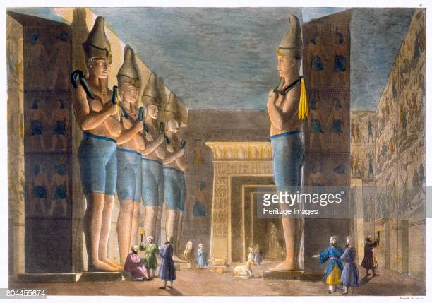 Temple of Rameses II Abu Simbel Egypt c18201839 Statues inside the Temple of Rameses II at Abu Simbel The Italian explorer Giovanni Belzoni cleared...
