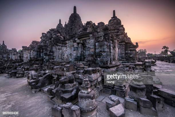 temple of sewu - yogyakarta stock pictures, royalty-free photos & images