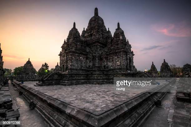 temple of sewu - yogyakarta stock photos and pictures