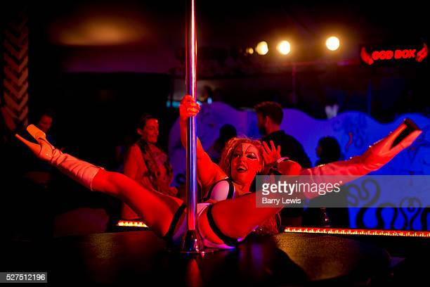 Temple of The Blessed Snake Pit inside the heaven tent in ShangriLa is a crazy mix of pole dancers and wild nightclubbing ShangriLa is the afterhours...