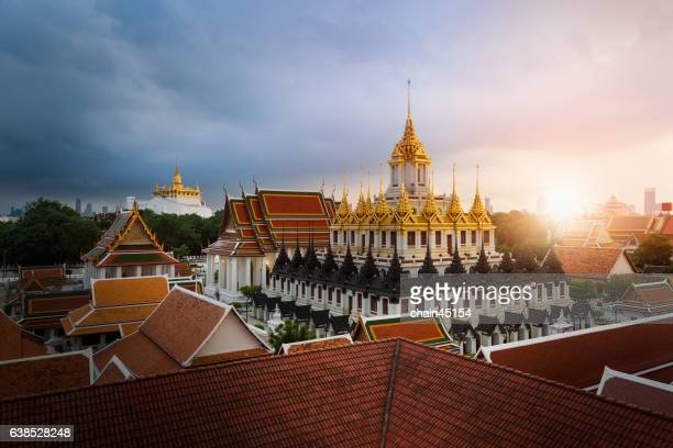 Temple of the Golden Buddha in Bangkok, Thailand during sunset.