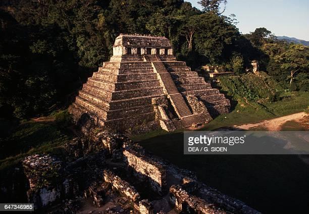 Temple of the Inscriptions ca 675 Palenque Chiapas Mexico Mayan civilisation 7th century