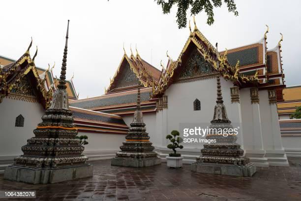 Temple of the Reclining Buddha Bangkok Thailand Daily life in Bangkok capital of Thailand