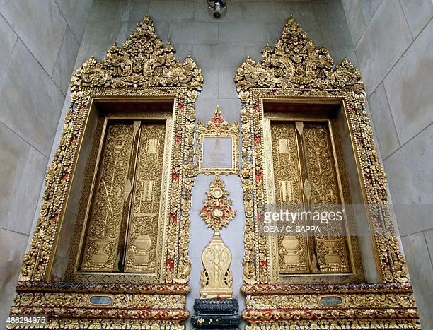 Temple of the royal family Wat Bowonniwet Bangkok Thailand 19th century