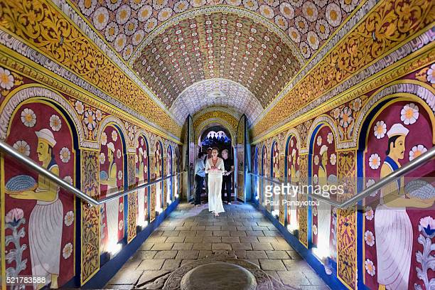 temple of the sacred tooth relic, kandy, sri lanka - kandy kandy district sri lanka stock pictures, royalty-free photos & images