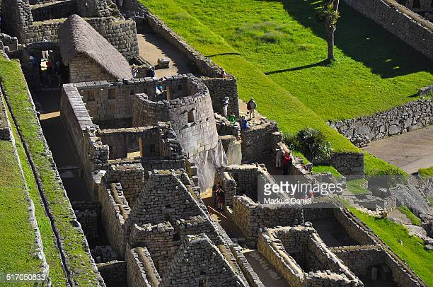 """temple of the sun in machu picchu - """"markus daniel"""" stock pictures, royalty-free photos & images"""
