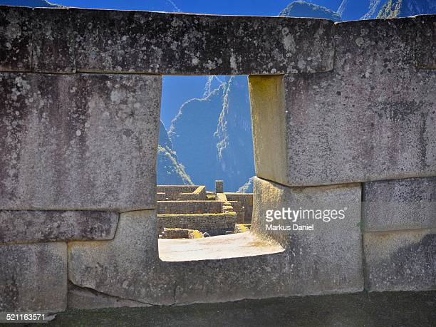 """temple of the three windows machu picchu - """"markus daniel"""" stock pictures, royalty-free photos & images"""
