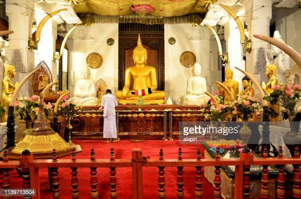 temple of the tooth, kandy - dalada maligawa stock photos and pictures