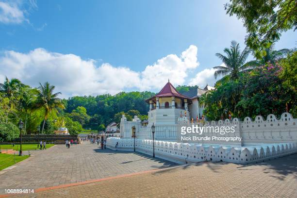 temple of the tooth, kandy, sri lanka - kandy kandy district sri lanka stock photos and pictures