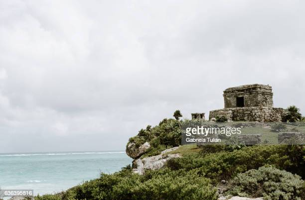 Temple of the wind in Tulum, Riviera Maya, Mexico