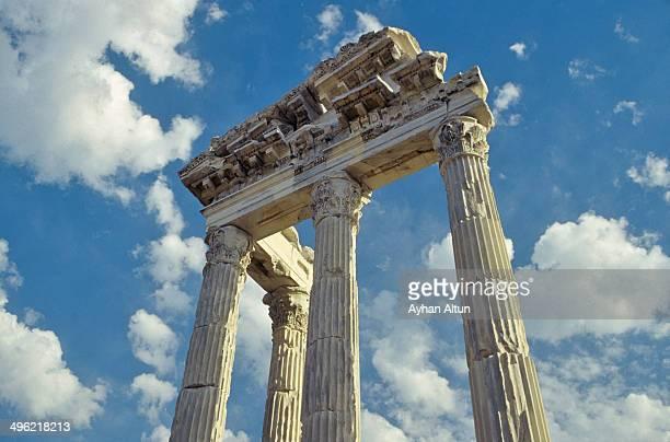 Temple of Trajan at Pergamon in Turkey
