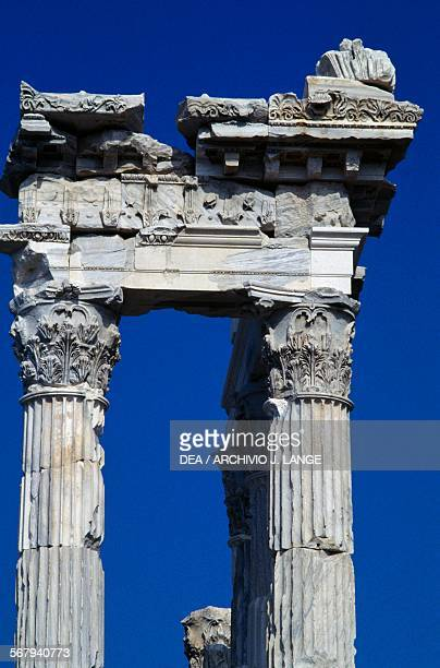 Temple of Trajan or Trajaneum 120125 AD Pergamon Turkey Roman civilisation 2nd century AD Detail