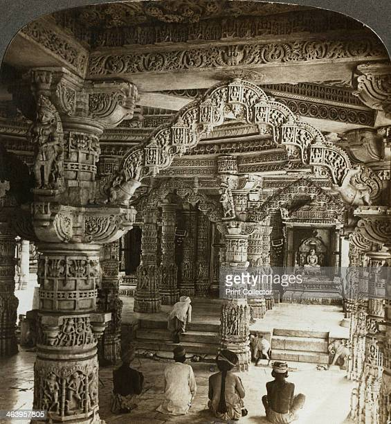 Temple of Vimal Vasahi Mount Abu Rajasthan India Interior of one of the Dilwara Temples a group of Jain temples built by the Chalukyas at the hill...