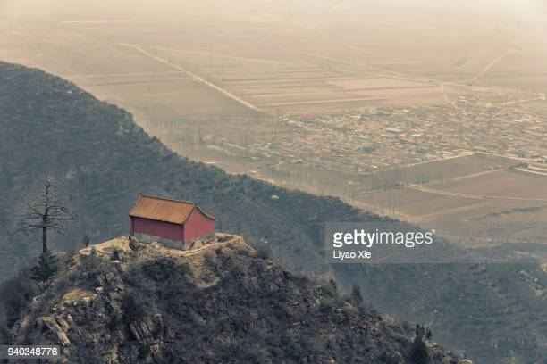 a temple on a mountain - liyao xie stock pictures, royalty-free photos & images
