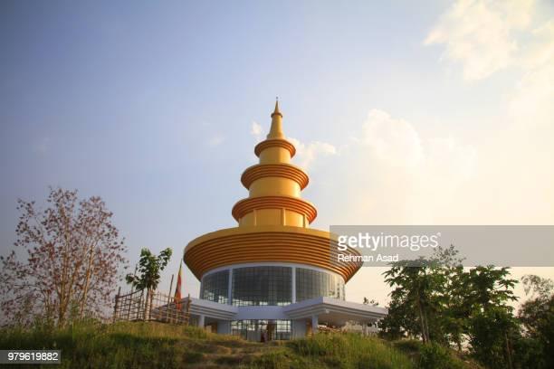 temple on hill top - bangladesh stock-fotos und bilder