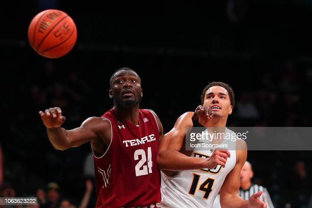 Temple Owls center Ernest Aflakpui battles Virginia Commonwealth Rams forward Marcus SantosSilva during the second half of the Legends Classic...