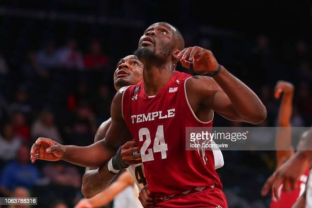 Temple Owls center Ernest Aflakpui during the first half of the Legends Classic College Basketball Game between the Virginia Commonwealth Rams and...