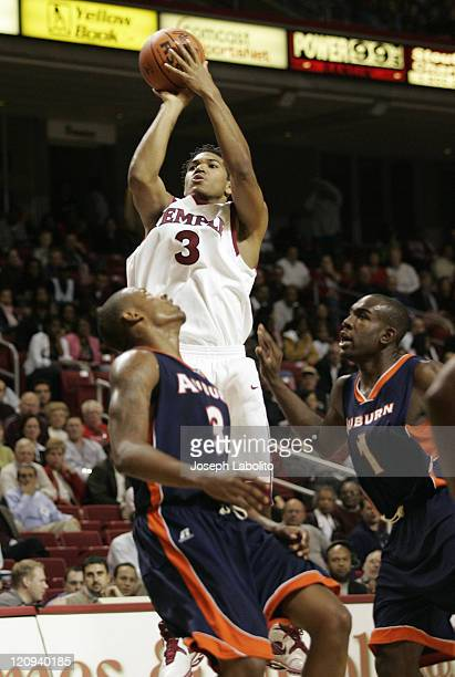 Temple Owl's Dustin Salisberry had 19 points in a losing effort to the Auburn Tigers 80 to 78 at the Liacouras Center in Philadelphia Pa on November...