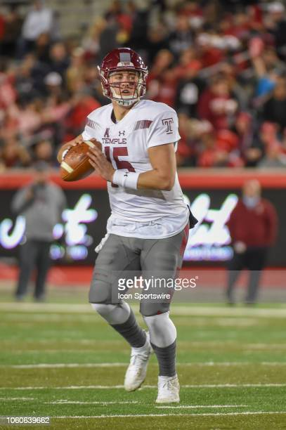 Temple Owls quarterback Anthony Russo looks to pass down the middle during the football game between the Temple Owls and Houston Cougars on November...