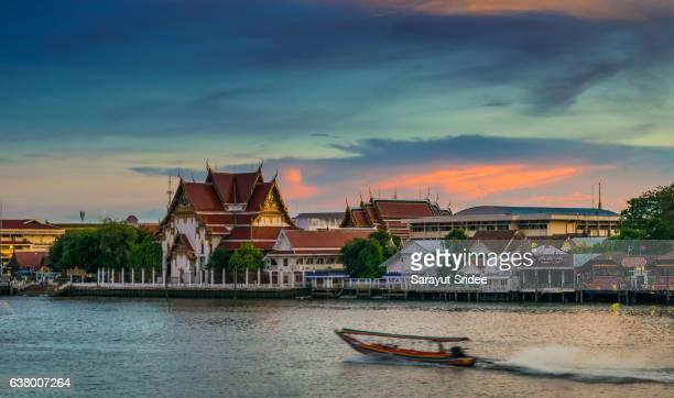 temple riverside in Bangkok, Thailand.