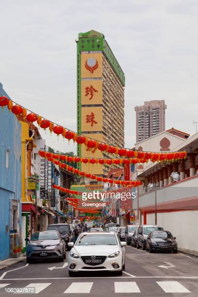 temple street in singapore - gwengoat stock pictures, royalty-free photos & images