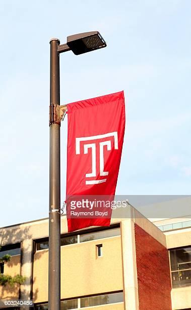 Temple University banner flies at Temple University in Philadelphia, Pennsylvania on August 27, 2016.