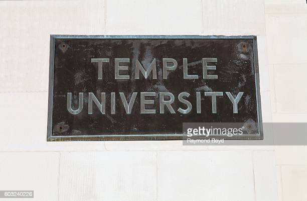 Temple University signage at Conwell Hall at Temple University in Philadelphia Pennsylvania on August 27 2016