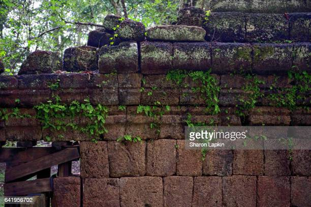 Temple wall at Banteay Srei