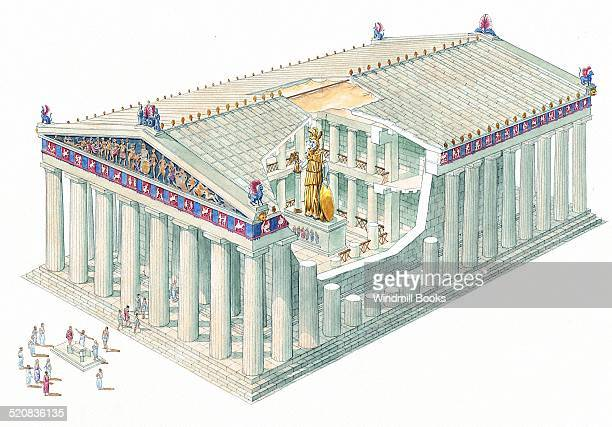 A temple was built as a home for a god The main festival to Athena was held every year It was called the Panathenaea and included a great procession...