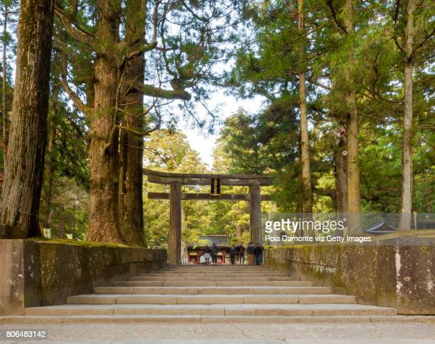 Temple with ornate carvings at Nikko Japan