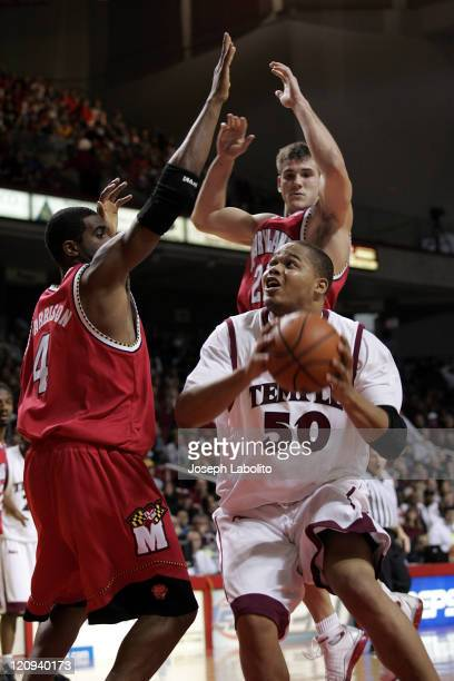 Temple's big man Wayne Marshall had 9 points as the Temple Owls upset the 19th ranked Maryland Terapins 91 to 85 at the Liacouras Center in...