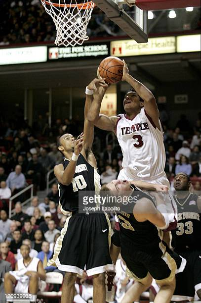 Temple's Dustin Salisbery had 7 points in a 64 to 67 Wake Forest victory over the Temple Owls at the Liacouras Ctr in Philadelphia on December 13 2004