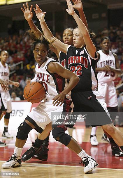 Temple's Fatima Maddox had 22 points in a losing effort as the ranked Maryland Terrapins defeated the Temple Owls 77 to 66 at the Liacouras Center on...