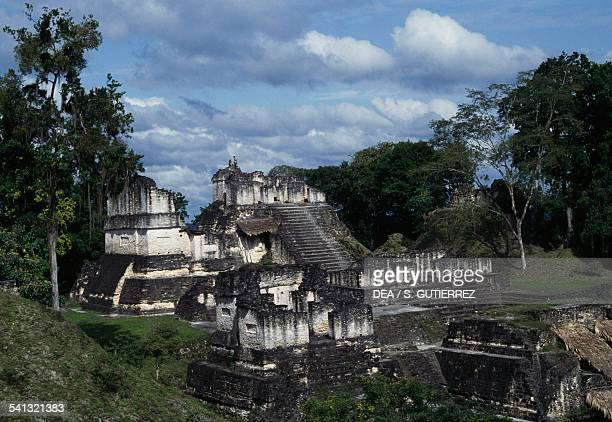 Temples from the archaeological site of Tikal Tikal National Park El Peten Guatemala Mayan civilisation 8th9th century
