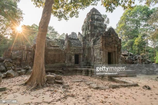 アンコール ワット、シェムリ アップ、カンボジアの複雑なアジアの山門 - シェムリアップ ストックフォトと画像