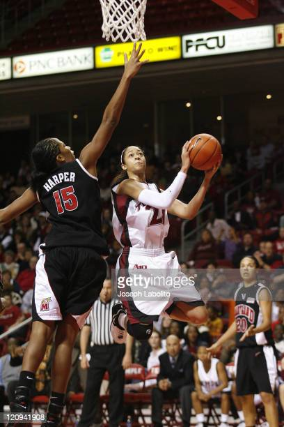 Temple's Kamesha Hairston lead all scorers with 28 points in a losing effort The ranked Maryland Terrapins defeated the Temple Owls 77 to 66 at the...