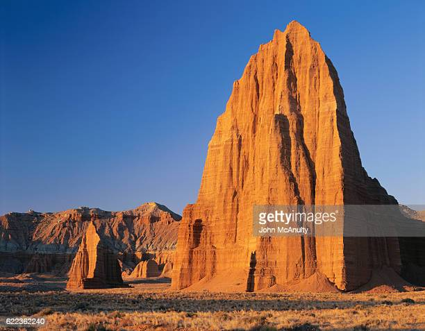 temples of the moon and sun - capitol reef national park stock pictures, royalty-free photos & images