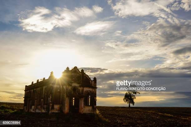 Templo abandonado em ruínas