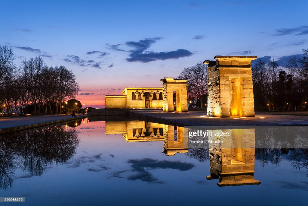 Templo Debod (Madrid. Spain) : Stock Photo