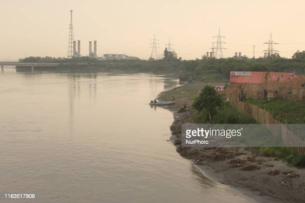 Temporarily evacuated people at a relief camp at Vikas Marg near ITO area after water levels in the Yamuna River began dropping on August 23 2019 in...