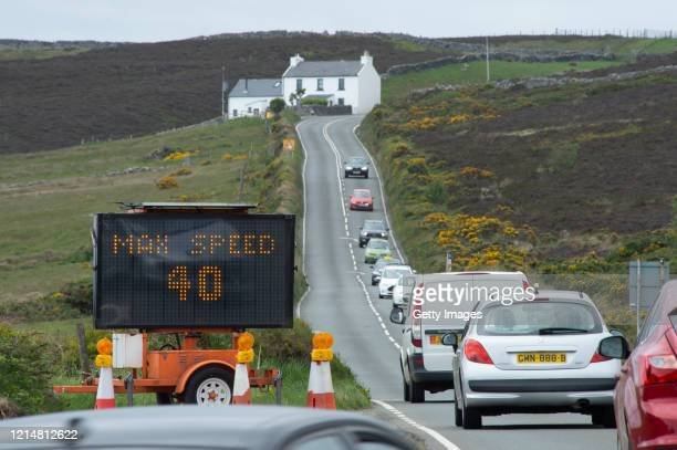 A temporary 40mph national speed limit is displayed on a sign to drivers on a piece of road near Kate's Cottage which has been introduced in a bid to...