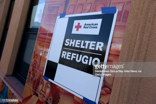 A temporary American Red Cross shelter setup at the West Oakland Youth Center in Oakland Calif on Tuesday March 2017 The Red Cross is assisting...