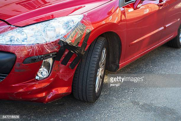 Temporary car repair after accident