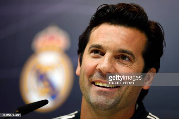 Temporary coach of Real Madrid CF Argentinian former player Santiago Solari holds a press conference at the Ciudad Real Madrid training facilities in...