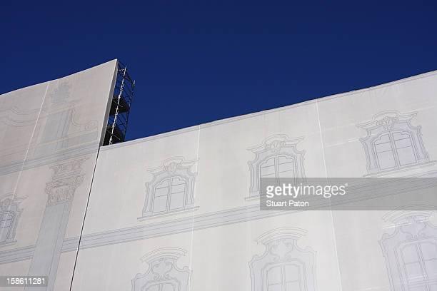 Temporary construction facade